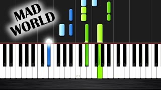 Mad World - Gary Jules - Piano Tutorial (MEDIUM) by PlutaX