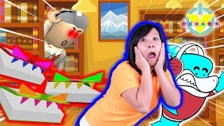 Ryan's Mommy ESCAPES THE EVIL LIBRARY OBBY in ROBLOX with Big Gil ! Let's Play
