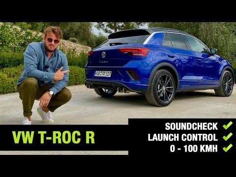 2020 VW T-Roc R (300 PS) | 0-100 km/h Beschleunigung | Launch Control Start | Akrapovič Sound Check.
