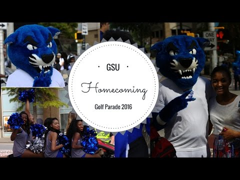 #Vlog2: American customs ( GSU Homecoming Golf Parade 2016)