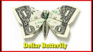 How To Make A Money Origami Butterfly Tutorial DIY At Home