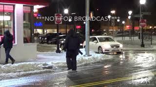 01-20-2019 Boston, MA - Slushy Roadways and Patrons in City
