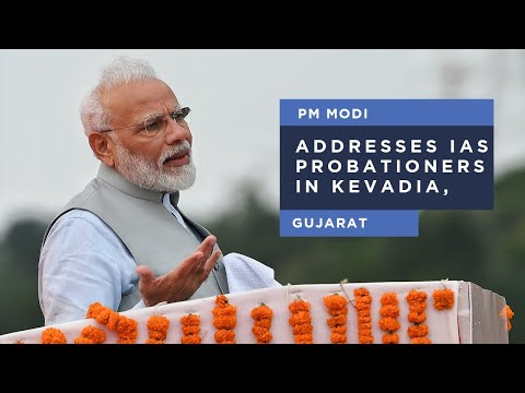 PM Modi addresses a programme at Statue of Unity in Kevadia, Gujarat
