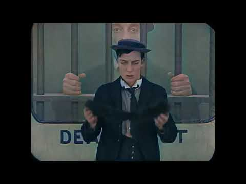 Watch Buster Keaton's Iconic Train Scene in Vibrant Color