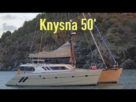 Knysna 500 Catamaran Review.  Would it be a good live-aboard circumnavigation sailboat.  Ep153