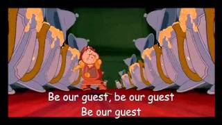Be our guest beauty and the beast lyrics
