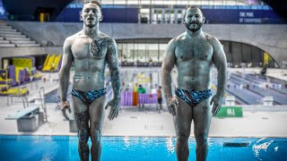 GYMNASTS TRY 'OLYMPIC DIVING'    The next Tom Daley / Matty Lee!