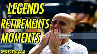 When Tennis Legends Say Goodbye & Retirement Moments | HD