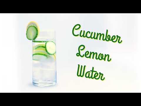 Cucumber Lemon Flavored Water
