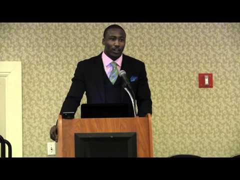 Brandon Marshall speaks at NEA-BPD Conference in White Plains, NY