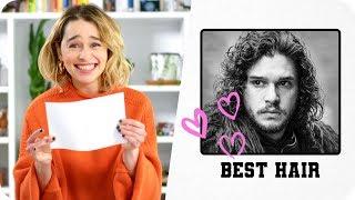 Emilia Clarke Gives the Game of Thrones Cast Superlatives // Omaze