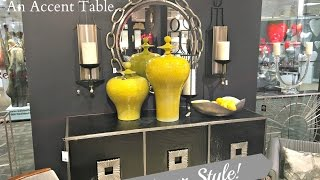 NEW! 5 Ways To Decorate An Accent Table...DESIGNER STYLE!