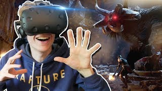 FIGHTING A GIANT MINOTAUR IN VIRTUAL REALITY! | Theseus VR (HTC Vive Gameplay)