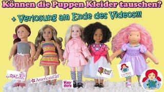Können American Girl, Our Generation, Ikuzi und Sami Puppen Klamotten tauschen?