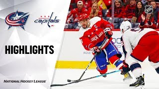 NHL Highlights | Blue Jackets @ Capitals 12/27/19