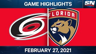 NHL Game Highlights | Hurricanes vs. Panthers - Feb. 27, 2021 by Sportsnet Canada