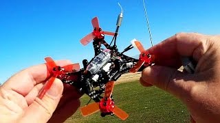 Kingkong 90GT Brushless Micro FPV Racing Drone Flight Test Review
