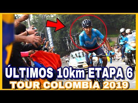 Últimos 10 km ETAPA 6 TOUR COLOMBIA 2019 🇨🇴 Subida al Alto de las Palmas