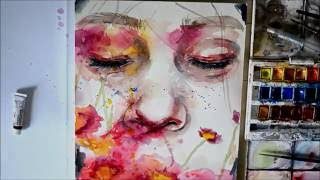 Speed Up Watercolor Portrait Painting - Recluse