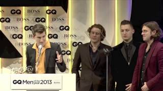 Arctic Monkeys accept GQ's Best Band of 2013 Award