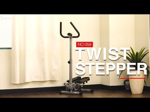 Sunny Health & Fitness No.059 Twist Stepper with Handlebars
