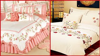 Most Beautiful Hand Embroidered Bedsheet Collection//Embroidery Patterns For Bedsheet