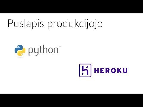 #4 Python puslapis produkcijoje
