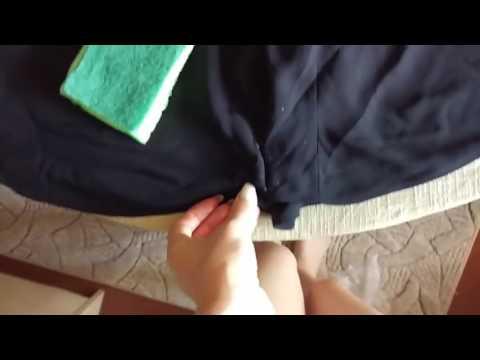 Как удалить пятно от смолы из дерева с одежды