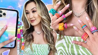 Trendy TikTok DIYs You Need *aesthetic phone charm, chunky rings * by LaurDIY