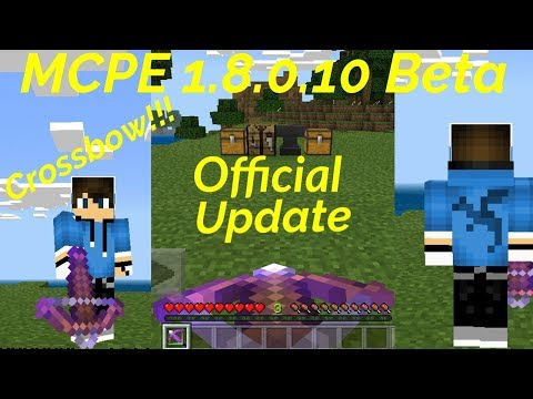 New MCPE 1 8 0 10 Beta Official Update(Crossbow and New Enchantments