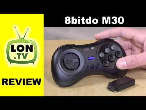 8bitdo M30 Sega Genesis Mega Drive Inspired Controller Review - Retro Receiver too!