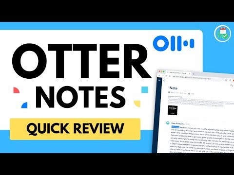 Otter Notes in 17 minutes