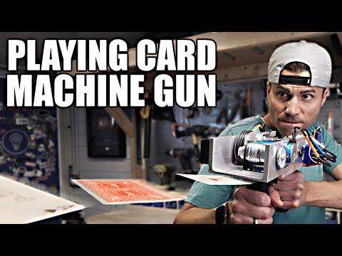 PLAYING CARD MACHINE GUN- Card Throwing Trick Shots