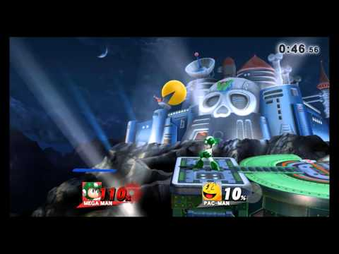 Super Smash Bros. Wii U - Cut Man Stage Remix - Wily Castle (Direct Feed)
