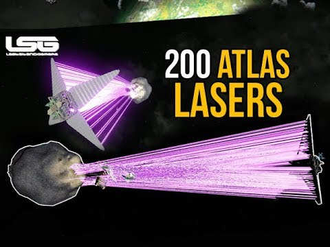 Space Engineers - 200 Atlas Lasers Death Star Server Killer