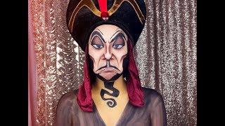 Disneys Aladdin Jafar L Facepaint Makeup Tutorial