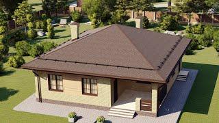 Проект дома 096-A, Площадь дома: 96 м2, Размер дома:  11,5x12,3 м