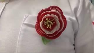 水引梅結びを5段重ねたバッチ、胸花、胸章、胸リボン