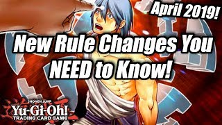 Yu-Gi-Oh! Rule Changes You NEED to Know! New for April 2019!