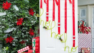 DIY Christmas Door Hang - Home & Family