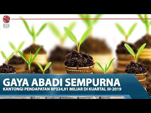 GAYA ABADI SEMPURNA KANTONGI PENDAPATAN Rp324,91 MILIAR DI KUARTAL III-2019