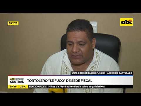 Tortolero se fugó de sede policial