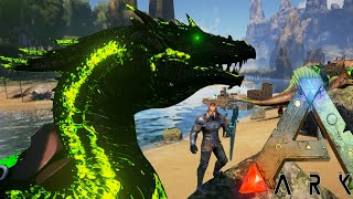 Ark Survival Evolved - BADASS POISON DRAGON, GIANT DILO TAMING - Modded Survival Ep38 (Ark Gameplay)