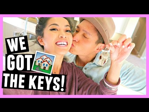 GOT THE KEYS TO OUR NEW HOUSE!