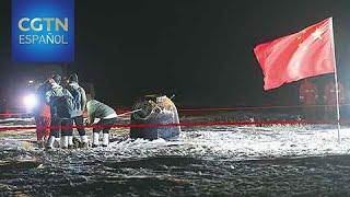 La sonda espacial Chang'e-5 de China regresa a la Tierra con muestras de la Luna