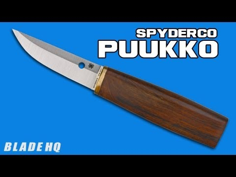 "Spyderco Puukko Fixed Blade Knife (3.30"" Satin) FB28WDP"