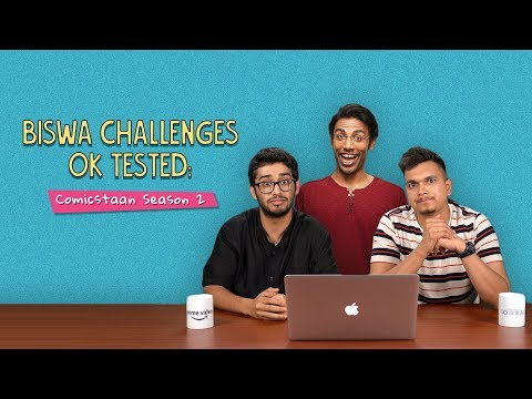 Biswa Challenges Akshay And Kanishk To Not Laugh   Ok Tested