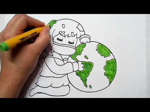 save earth save environment drawing for kids