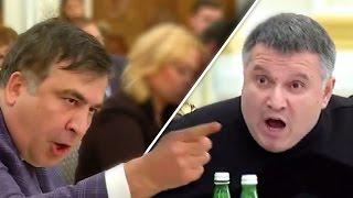 Аваков бросил стакан в Саакашвили