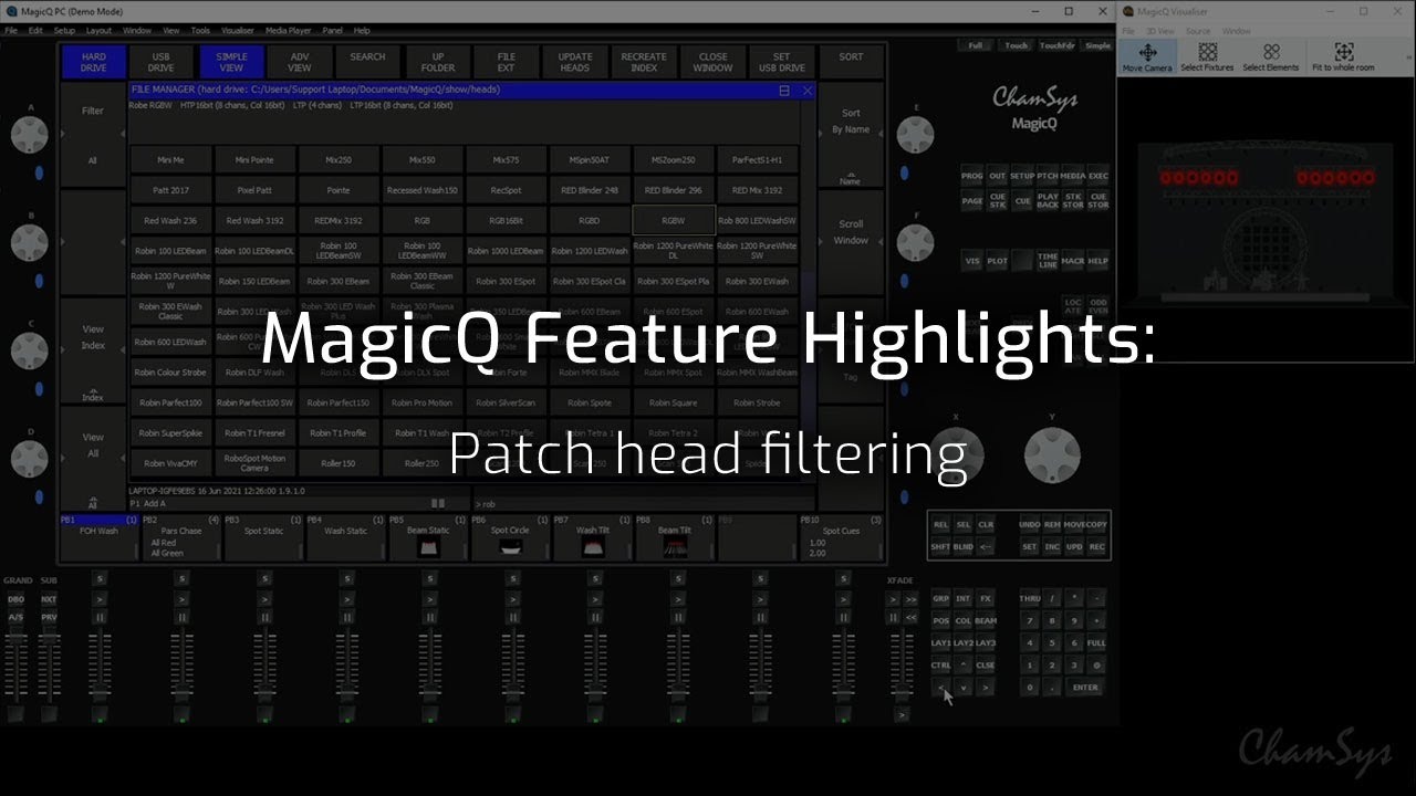 Patch head filtering
